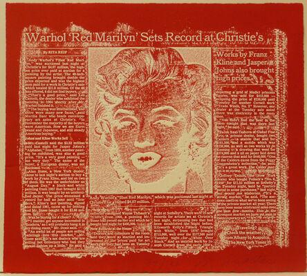 William Anastasi, 'Red Marilyn', 1990