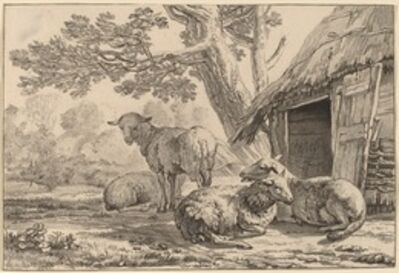 Cornelis Ploos van Amstel and Cornelis Brouwer after Karel Dujardin, 'Sheepcote', 1781