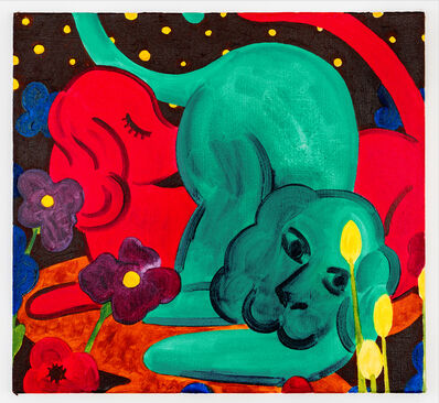 André Ethier, 'Untitled (Two Dogs)', 2017