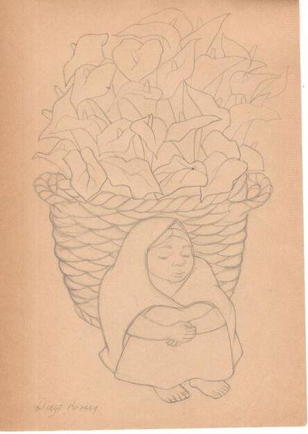 Diego Rivera, 'Niña con alcatraces'