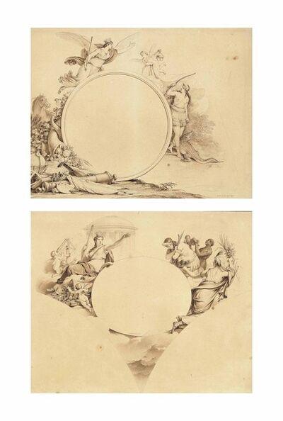 Jean-Michel Moreau, 'Allegorical designs representing America', 1807-1808