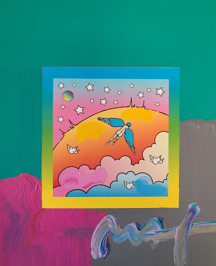 Peter Max, 'Peter Max, Angel Clouds on Blends #408 (Framed Original Painting)', 2009
