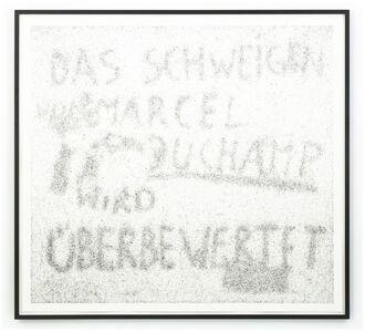 Maximilian Prüfer, 'Das Schweigen von Marcel Duchamp wird überbewertet', 2019