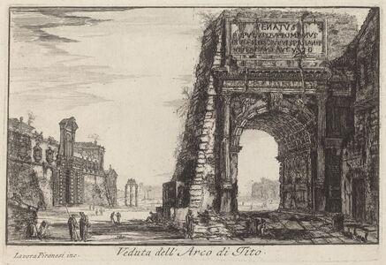 Laura Piranesi after Giovanni Battista Piranesi, 'The Arch of Titus'