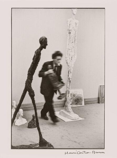 Henri Cartier-Bresson, 'Alberto Giacometti à la galerie Maeght Paris', 1961