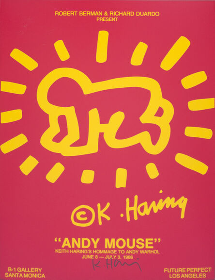 Keith Haring, 'Poster for Andy Mouse Show', 1986