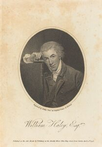 William Ridley after George Romney, 'William Hayley, Esq.', published 1798