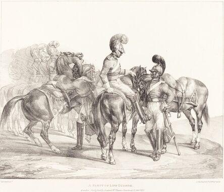Théodore Géricault, 'A Party of Life Guards', 1821