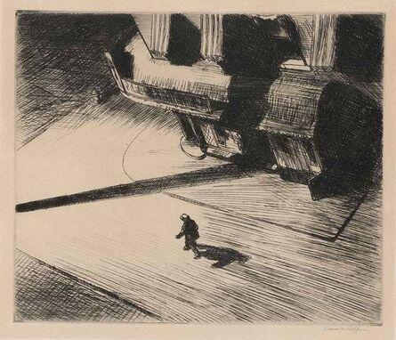 Edward Hopper, 'Night Shadows (Levin 82)', 1921