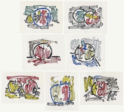 Roy Lichtenstein, 'Seven Apple Woodcuts Series'