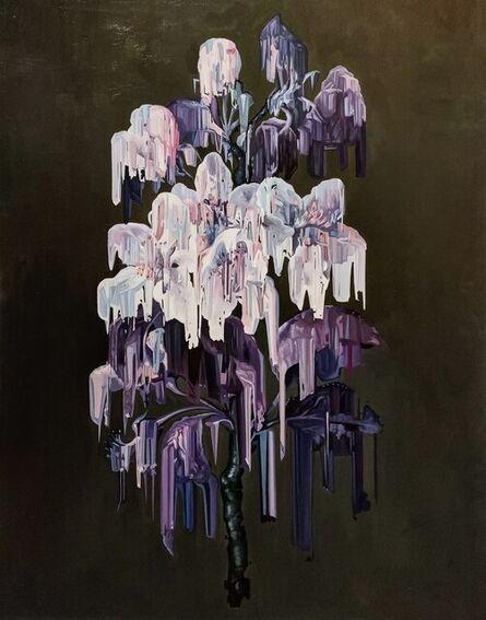Alexis Mata, 'Morada y púrpura sobre gris', 2021