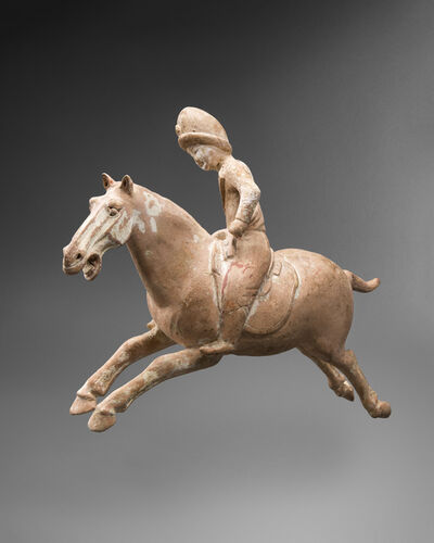 'A very rare earthenware Polo Equestrian Figure', Tang dynasty-618 – 906