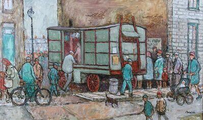 Norman Cornish, 'Chip Van with Blue Door', ca. 1970