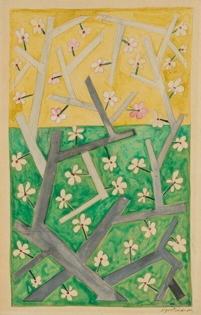 Natalia Goncharova, 'Branche Fleurie'