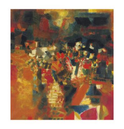 S. H. Raza, 'Village en Fête', 1964