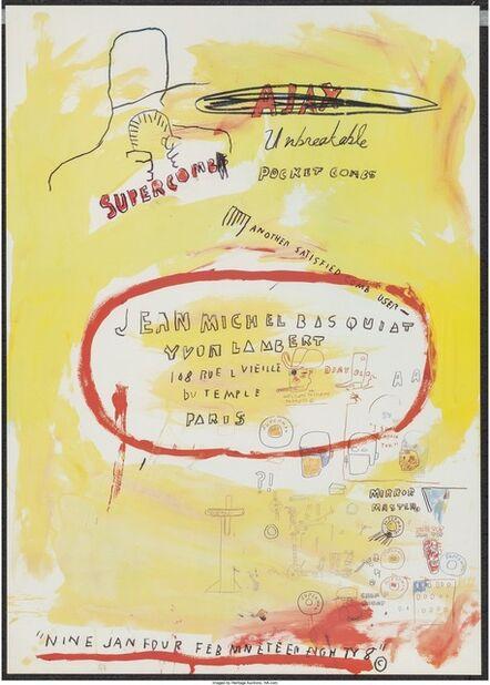 Jean-Michel Basquiat, 'Supercomb Exhibition Poster', 1988
