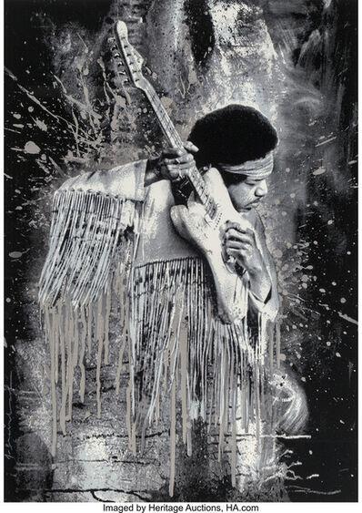 Mr. Brainwash, 'Jimi Hendrix (Silver)', 2015