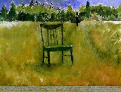 Larry Calkins, 'my father's chair', 2020
