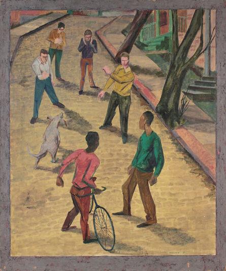 Philip Pearlstein, 'Street Fight', 1946-1947