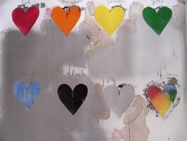 Jim Dine, '8 Hearts', 1935
