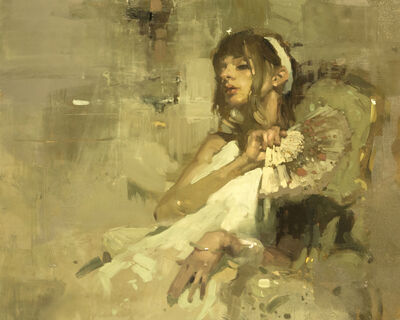 Jeremy Mann, 'Note in Pale Yellow No. 3'