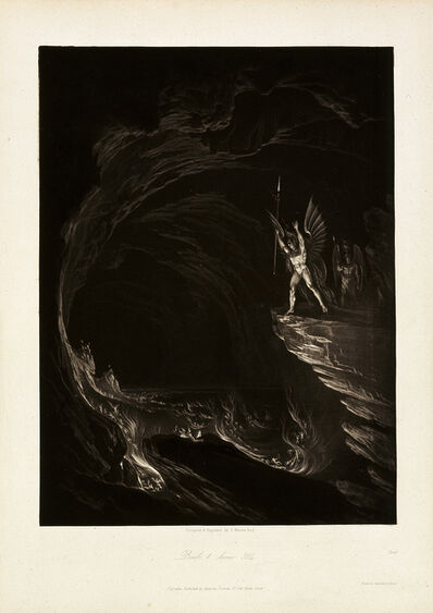 John Martin (1789-1854), 'Satan Arousing the Fallen Angels, Book 1, line 314, from John Milton, Paradise Lost', 1824