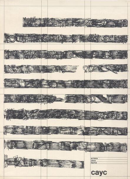 Mirtha Dermisache, 'Sin título (Página)', ca. 1974