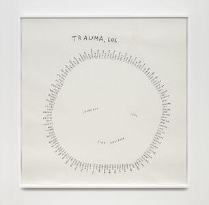 Christine Sun Kim, 'Trauma, LOL', 2020