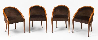 "Jean Royère, 'Set of 4 ""crapaud"" bridge armchairs', ca. 1936"