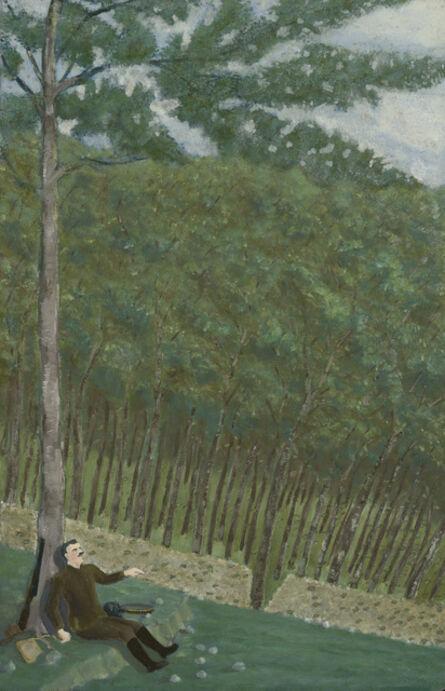 Louis-Auguste Déchelette, 'Surpris par la pluie (première goute)', ca. 1943