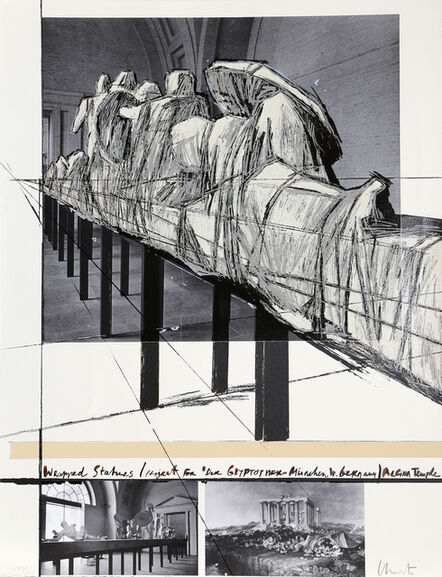Christo, 'Wrapped Statues: the Glyptothek, Munich', 1988
