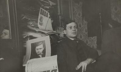 Unknown Artist, 'Portrait of Tristan Tzara', 1920