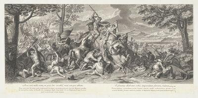 Jean-Baptiste de Poilly after Francois de Troy, '[Porus in battle]'