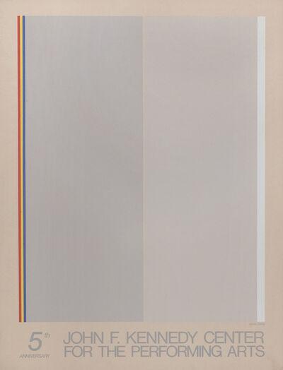 Gene Davis, 'Kennedy Center 5th Anniversary', 1976