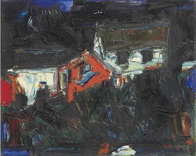S. H. Raza, 'Houses (Maisières)', 1958