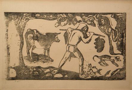 Paul Gauguin, 'Le Porteur de feï [Tahitian carrying bananas]', 1898-1899