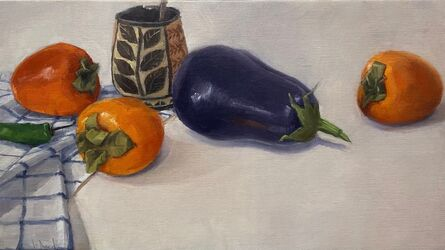 Jeffrey Reed, 'Eggplant and Persimmons', 2021