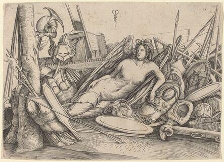 Jacopo de' Barbari, 'Victory Reclining Amid Trophies', ca. 1500/1503
