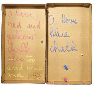Robert Filliou, 'Autobiographical Element: I Love Chalk', 1973