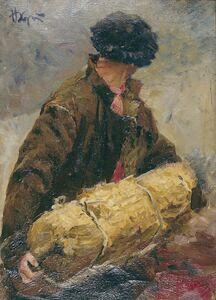"""Nikolay Pavlovich Khristolyubov, 'Sketch """"Fisherman""""', 1952"""