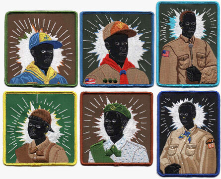Kerry James Marshall, 'Scout Series: Six embroidered patches', 2017