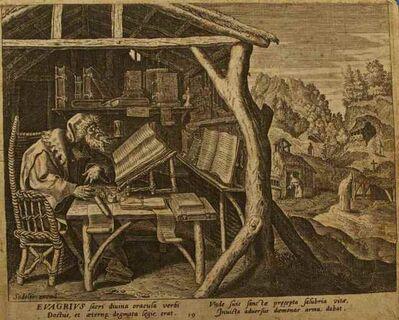 Raphael Sadeler the Elder, 'Evagrius', ca. 1660