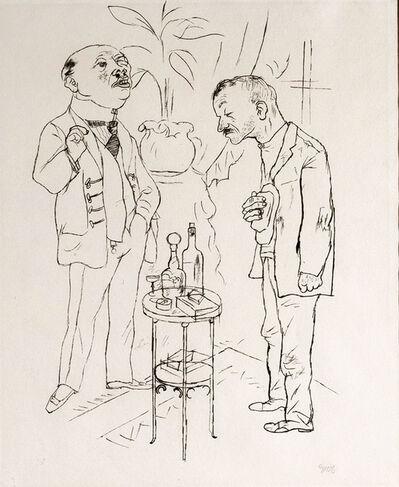 """George Grosz, '""""Es ist doch Eine jammerliche Rolle, der Hase sein zu mussen auf dieser Welt - Aber der gnadige Herr braucht Hassen.""""', 1922"""