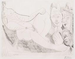 Pablo Picasso, 'Femme au Lit avec Visiteurs..., from the 156 Series', 1971