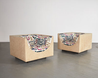 Jorge Zalszupin, 'Pair of upholstered lounge chairs', 1960s
