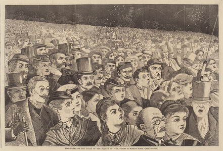 After Winslow Homer, 'Fire Works on the Night of the Fourth of July', published 1868