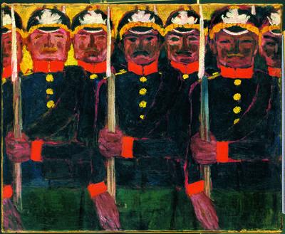 Emil Nolde, 'Soldaten', 1913