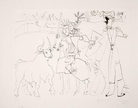 Pablo Picasso, 'Chevalier Picador dans L'Arene', 1973-originally created in 1951