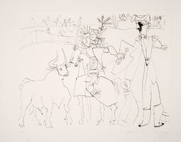 Pablo Picasso, 'Chevalier Picador dans L'Arene', 1973-originally created in 1951