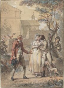 Jacques Louis François Touzé, 'The Kiss Returned', in or before 1795